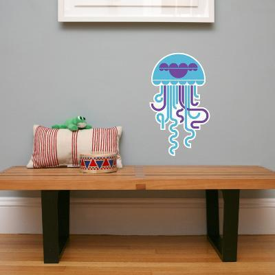 Letter J - Jose the Jellyfish Wall Decal-Wee Society-Wall Decal