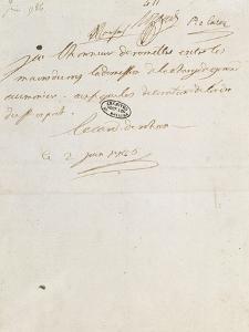 Letter of Cardinal De Rohan Louis Xvi, June 2, 1786