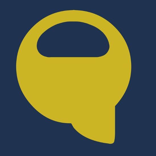 Letter Q Yellow-NaxArt-Art Print