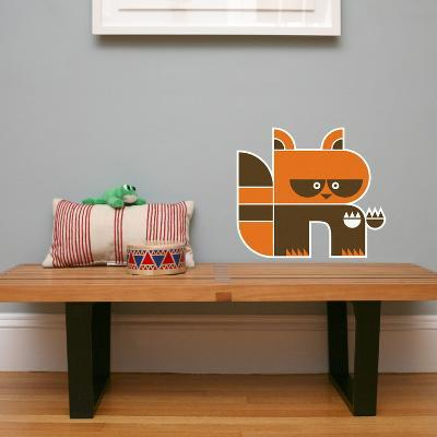 Letter R - Riley the Raccoon Wall Decal-Wee Society-Wall Decal