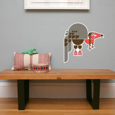 Letter V - Violet the Vulture Wall Decal-Wee Society-Wall Decal