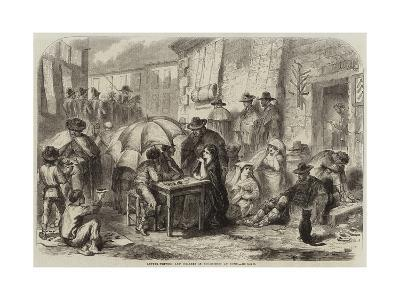 Letter-Writers and Dealers in Cigar-Ends at Rome--Giclee Print