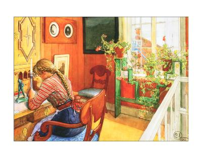 Letter Writing-Carl Larsson-Art Print