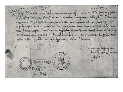 Letter Written in Seville to the Ducal Commissioner in Genoa, 30th December 1492-Amerigo Vespucci-Giclee Print