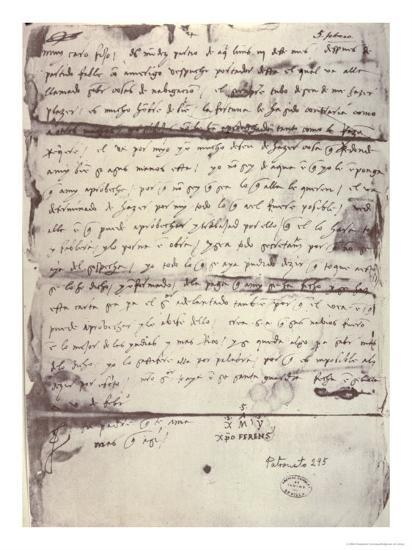 letter written to columbus son diego colon giclee print by christopher columbus artcom