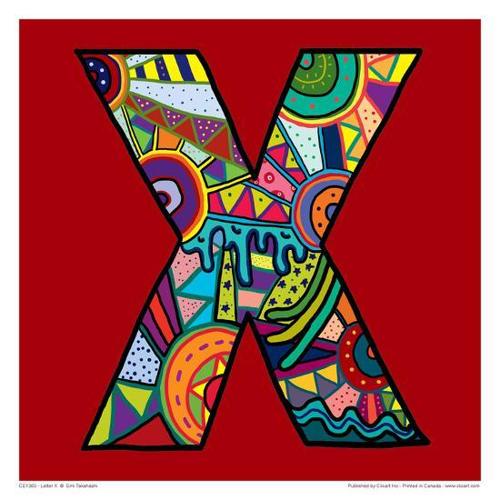 Letter X-Emi Takahashi-Art Print