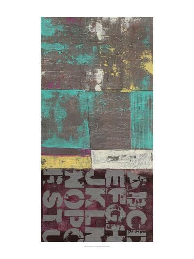 Letters and Paint I-Jennifer Goldberger-Art Print