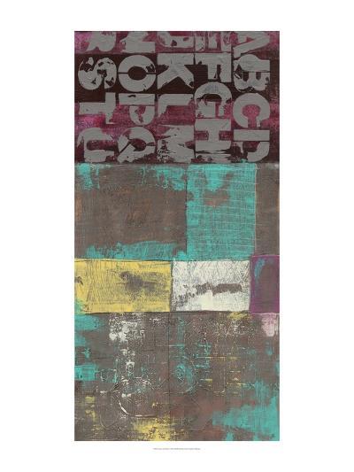 Letters and Paint II-Jennifer Goldberger-Art Print