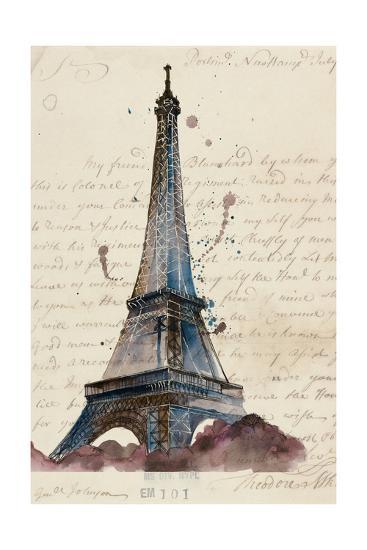 Letters from Eiffel-Melissa Wang-Art Print