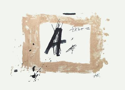 Lettre A-Antoni Tapies-Collectable Print