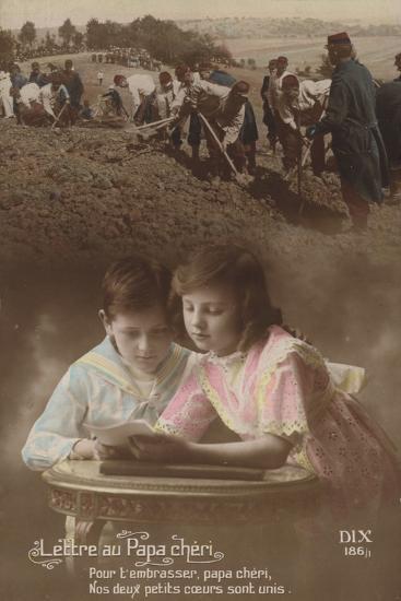 Lettre Au Papa Cherie--Photographic Print