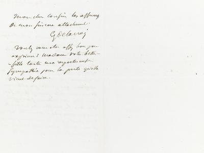 Lettre autographe signée à Berryer, 29 Juillet 1861-Eugene Delacroix-Giclee Print