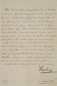 Lettre de Napoléon au cardinal de Paris après Austerlitz