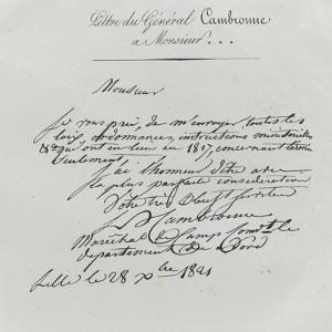 Lettre du général Cambronne