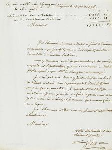 Lettre du géomètre Frère : estimation de la terre des Milelli et de la maison Badine