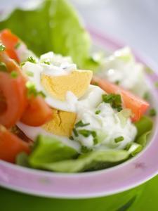 Lettuce, Egg, Tomato and Yoghurt Dressing