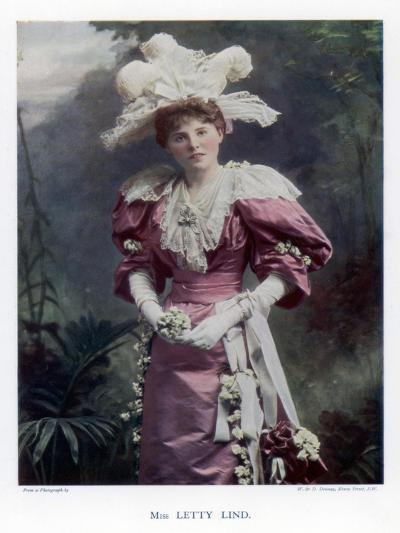 Letty Lind, Actress and Dancer, 1901-W&d Downey-Giclee Print