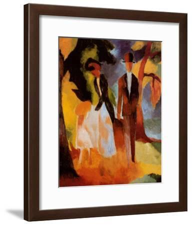 Leute am Blauen See-Auguste Macke-Framed Art Print