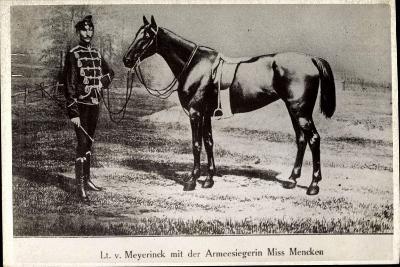 Leutnant Hans Von Meyerinck Mit Pferd Miss Mencken, Geb. 1846, Gest. 1915--Giclee Print