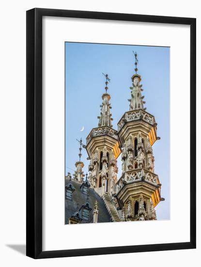 Leuven Stadhuis (City Hall) and buildings on Grote Markt, Leuven, Flemish Brabant, Flanders, Belgiu-Jason Langley-Framed Photographic Print