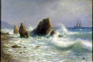 At the Livadia Shore, 1895 by Lev Felixovich Lagorio
