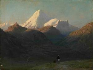 Mountain Landscape, 1868 by Lev Felixovich Lagorio