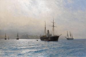 Russian Ship at the Entrance to the Bosphorus Strait, after the Russo-Turkish War of 1877-1878 by Lev Felixovich Lagorio