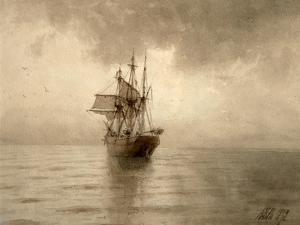 Sailing Ship by Lev Felixovich Lagorio