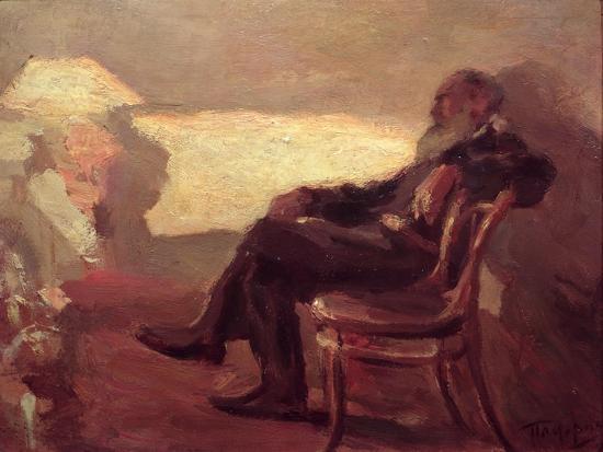 Lev Nikolaevich Tolstoy (1828-1910) 1901-Leonid Osipovic Pasternak-Giclee Print