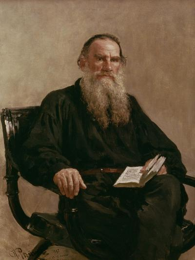 Lev Tolstoy (1828-1810) 1887-Ilya Efimovich Repin-Giclee Print