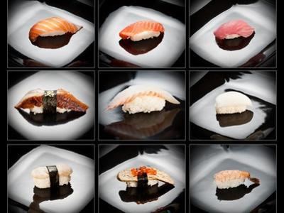 Set Of 9 Different Nigirizushi (Sushi) by Lev4
