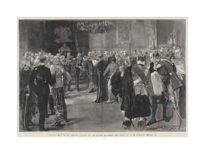 Levee Held at St James's Palace by His Royal Highness the Duke of York, Tuesday, 13 March-Thomas Walter Wilson-Giclee Print