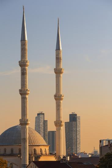 Levent Mosque at Sunset.-Jon Hicks-Photographic Print