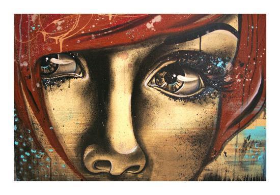 Levres Fanees-Vicky Filiault-Art Print