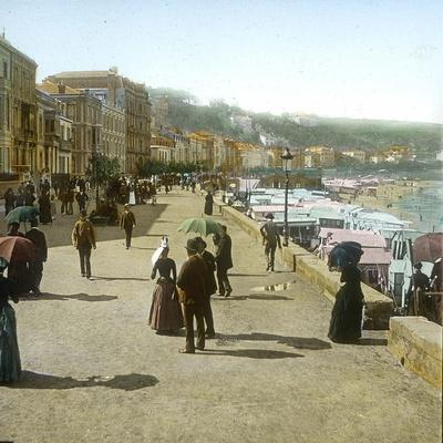 San Sebastian (Spain), the Paseo of La Concha and the Beach, Circa 1885-1890