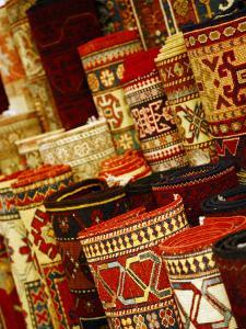 Carpets for Sale in the Grand Bazaar, Istanbul, Turkey, Europe by Levy Yadid