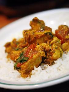 Chicken Curry Balti Dish at Al Frash Restaurant in the Balti Triangle. Birmingham, England, UK by Levy Yadid