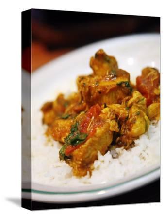 Chicken Curry Balti Dish at Al Frash Restaurant in the Balti Triangle. Birmingham, England, UK