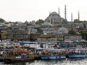 City View with the Suleymaniye Mosque in the Background, Istanbul, Turkey, Europe by Levy Yadid