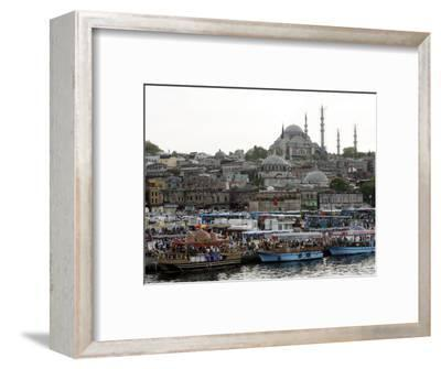 City View with the Suleymaniye Mosque in the Background, Istanbul, Turkey, Europe