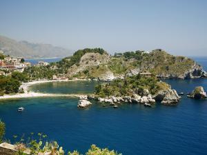 Isola Bella Island and Beach, Taormina, Sicliy, Italy, Mediterranean, Europe by Levy Yadid
