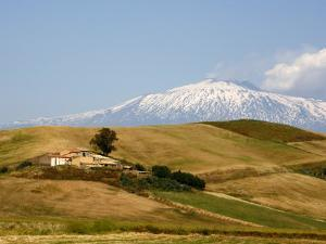 Landscape around Enna with Mount Etna in the Background, Enna, Sicily, Italy, Europe by Levy Yadid
