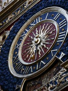 Medieval Clock, Old Rouen, Normandy, France, Europe by Levy Yadid