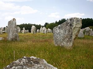 Megalithic Stones Alignments De Kremario, Carnac, Morbihan, Brittany, France, Europe by Levy Yadid