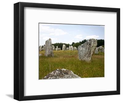 Megalithic Stones Alignments De Kremario, Carnac, Morbihan, Brittany, France, Europe