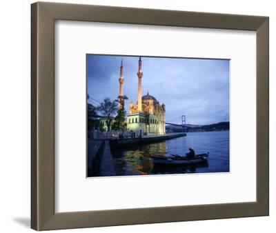 Ortakoy Mecidiye Mosque and the Bosphorus Bridge, Istanbul, Turkey, Europe