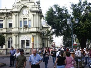People by the Old Post Office, San Jose, Costa Rica, Central America by Levy Yadid