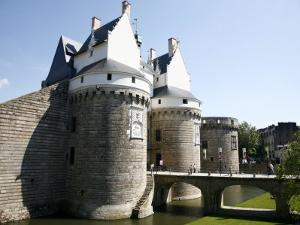 Ramparts of the Chateau Des Ducs De Bretagne, Nantes, Brittany, France, Europe by Levy Yadid