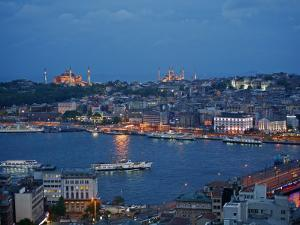Skyline of Istanbul with a View over the Golden Horn and the Galata Bridge, Istanbul, Turkey by Levy Yadid