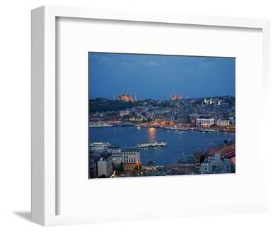 Skyline of Istanbul with a View over the Golden Horn and the Galata Bridge, Istanbul, Turkey